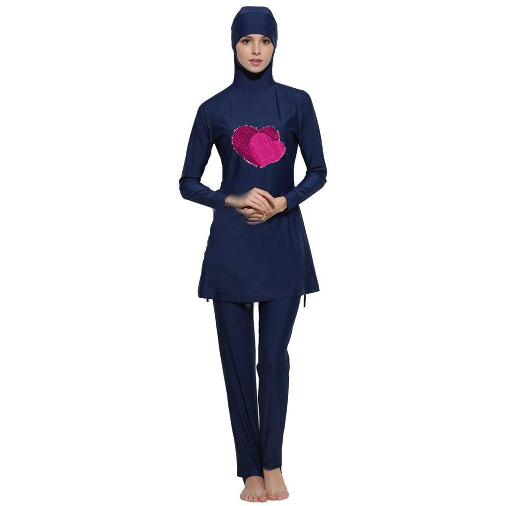 Nuovo Musulmano Costumi da bagno islamico Donne Manica corta Modesto Costume da bagno beachwear burkini Signora Eruzione cutanea surf Completo da Costume