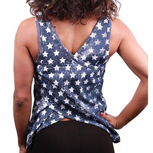 cotton division - Camiseta sin mangas - para mujer Bleu Femme
