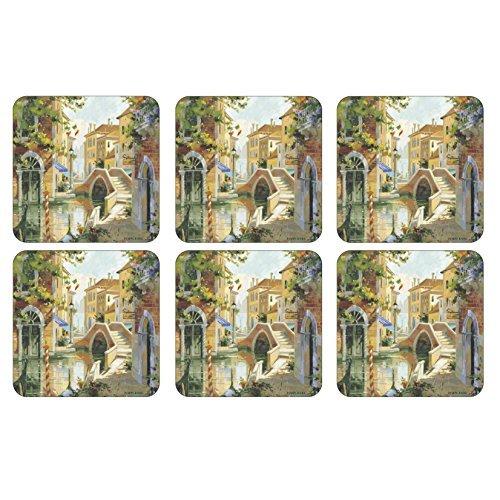 Pimpernel Venetian Scenes Coasters Square Set(s) Of 6 - Pimpernel Square