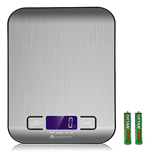 Etekcity Stainless Steel Digital Multifunction Scale - 11 lbs. / 5 kg.