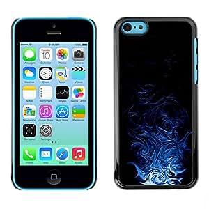 TopCaseStore / la caja del caucho duro de la cubierta de protección de la piel - Blue Tribal Pattern - Apple iPhone 5C