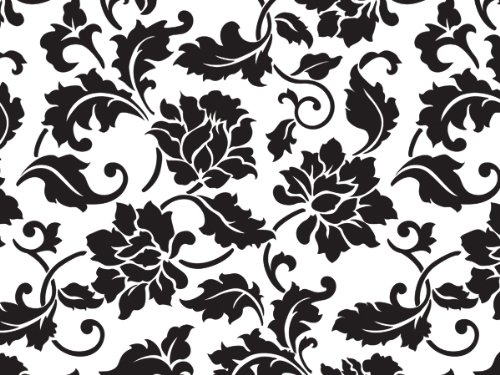 Cello Bags Black Floral Brocade Medium - Pack of (Floral Medium Gift Bag)