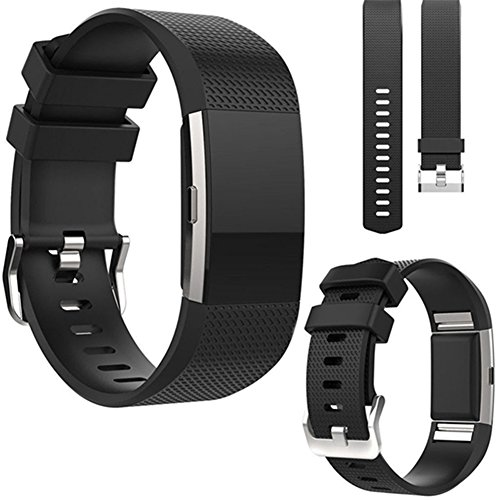 Interesting Sport Soft Silicone Replacement Wrist Watch Bands for Fitbit Charge 2 Strap from Interesting