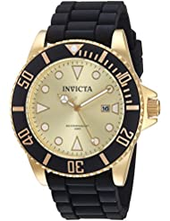Invicta Womens Pro Diver Quartz Stainless Steel and Silicone Casual Watch, Color:Black (Model: 90302)