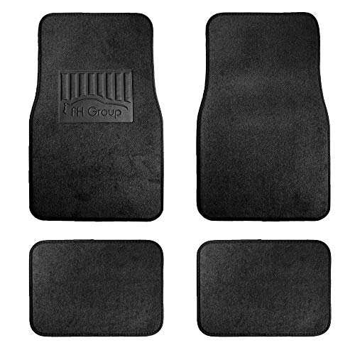 FH Group F14402 Premium Carpet Floor Mats with Heel Pad, Black Color- Fit Most Car, Truck, SUV, or Van