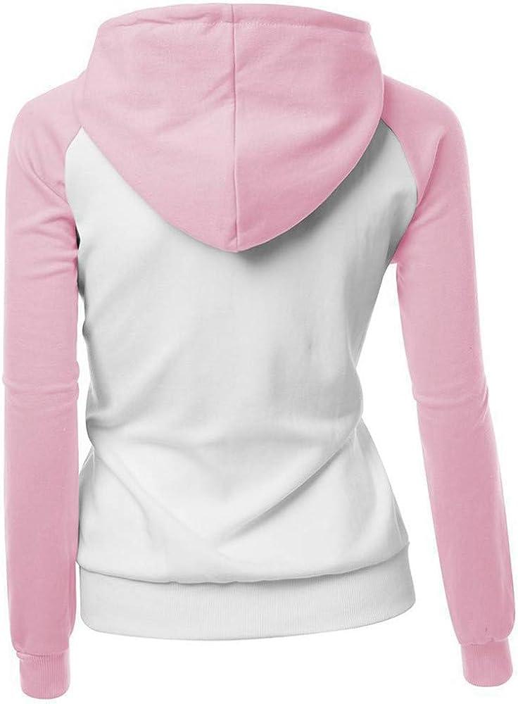 OranDesigne Donna Felpa con Cappuccio Autunno Inverno Bello Artiglio di Cane Stampare Manica Lunga Sweatshirt Hoodies Tops