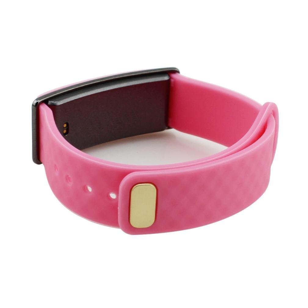 時計バンド、Ankola人気交換用シリカゲル手首ストラップ耐久性Watchband for Huawei Honor a1バンド腕時計  ピンク B07194F463
