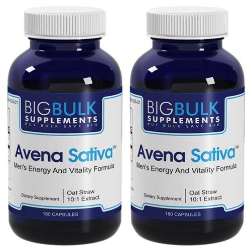 Avena Sativa юношескую энергию, бодрость и выносливость Поддержка большая объемная Suplements 10: 1 Авена Sativa Экстракт 900mg 360 капсул 2 бутылки
