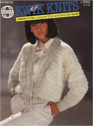 Sirdar 8155 Knitting Pattern Ladies Kwik Knit Jacket 30 40in
