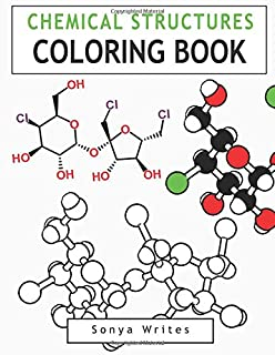 Amazoncom Color Me Chemistry A Molecular Coloring Book For