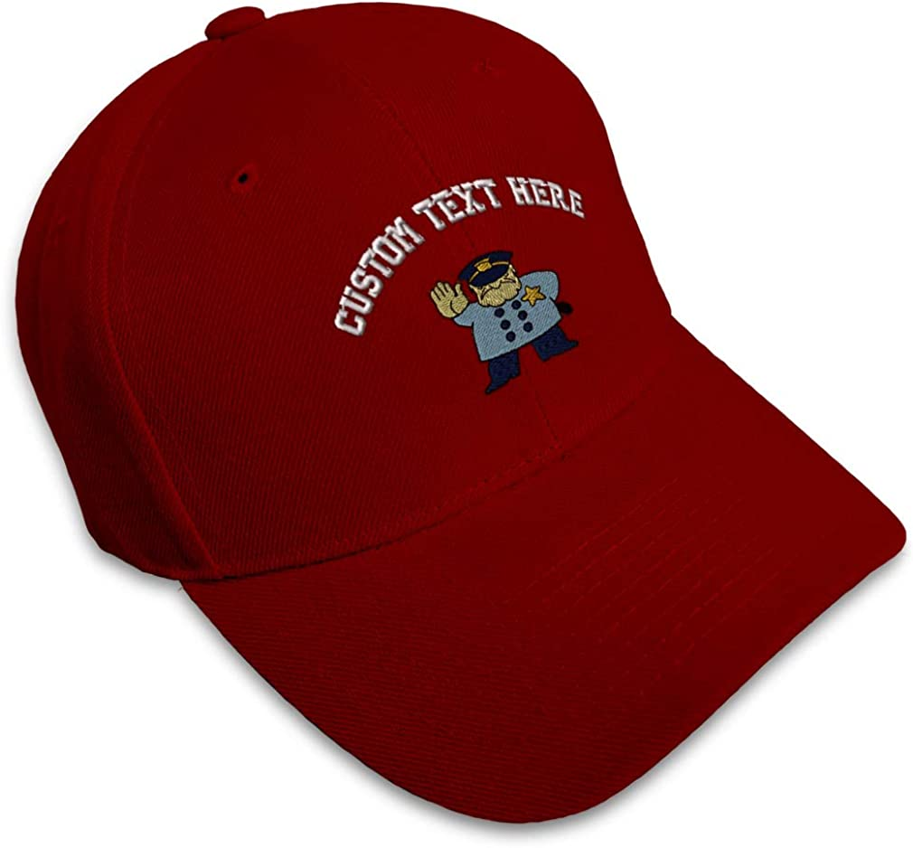 Custom Baseball Cap Police Officer Embroidery Acrylic Dad Hats for Men /& Women