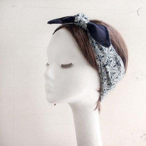 - Vintage Kimono, Silk Headscarf, Bow Headwrap, fabric head wrap, Summer Beach scarf, Bow, Headband,Boho head Wrap, White scarf, Floral
