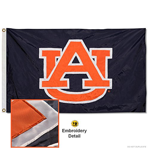 Auburn Tigers Embroidered and Stitched Nylon Flag ()