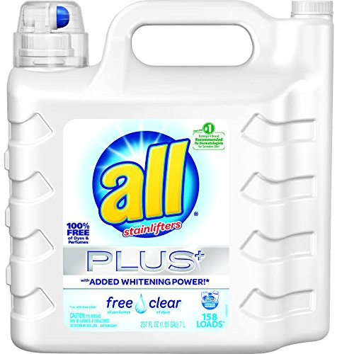 all Liquid Laundry Detergent, Free Clear for Sensitive Skin, (Free Clear, 237 Fluid Ounces) (All Detergent Free And Clear)