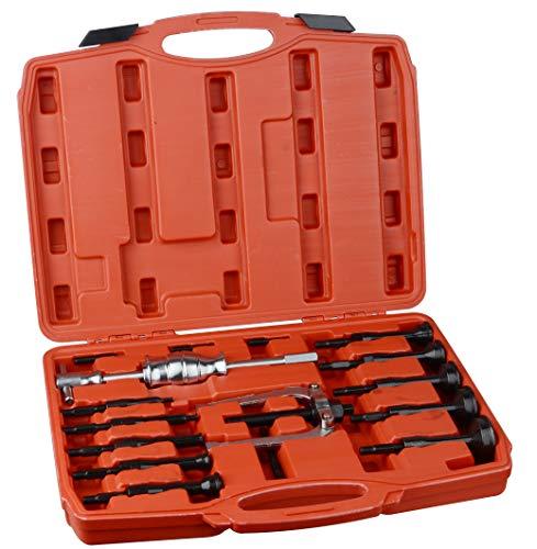 DA YUAN 16 pcs Blind Inner Bearing Puller Hole Remover Extractor Set Slide Hammer Tool -