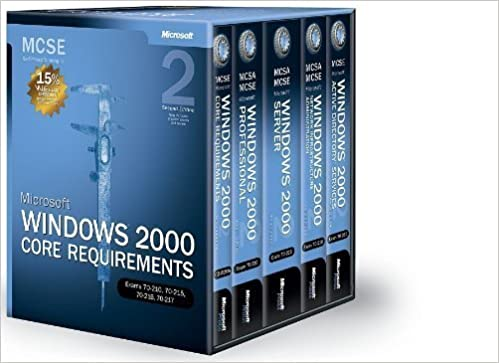 Book Microsoft Windows 2000 Core Requirements Training Kit: Exams 70-210, 70-215, 70-216, 70-217 2nd edition by Microsoft Corporation (2002)