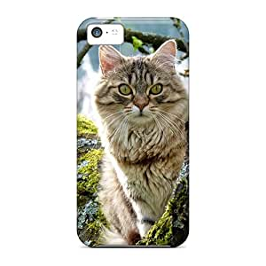 New Arrival Case Specially Design For Iphone 5c (cute Cat Peeking From Trees)