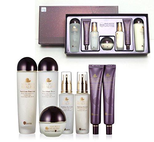 [Elle Lhotse]Snail Mucus Nutritious Skin Care 7pcs/Anti-wrinkle,Moisture/KOREA (Best Snail Cream For Oily Skin)