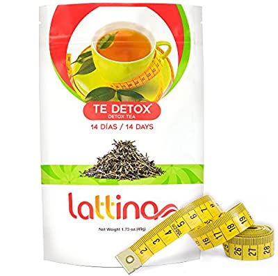 Lattina Detox Herbal Tea for Weight Loss and Fat Burning – 14 Supplement Bags