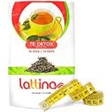 Lattina 14 Day Natural Detox Tea Herbal Supplement (14 Bags) Healthy Weight Loss & Belly Fat Burning Support