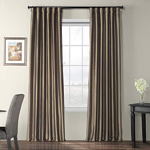 Half Price Drapes PTCH-BO27-96 Blackout Faux Silk Taffeta Curtain, ()