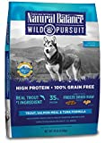 Natural Balance Wild Pursuit High Protein Grain Free Dry Dog Food - Trout - Salmon Meal & Tuna Formula - 10-Pound