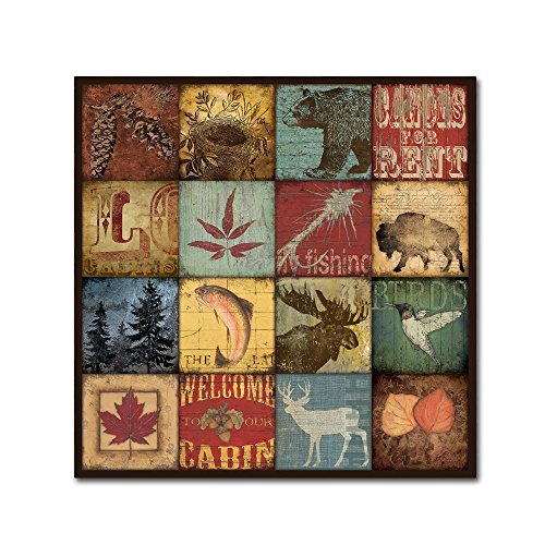(Lodge 16 Patch by Stephanie Marrott, 24x24-Inch Canvas Wall Art)