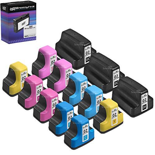 - Speedy Inks Remanufactured Ink Cartridge Replacement for HP 02 (4 Black, 2 Cyan, 2 Magenta, 2 Yellow, 2 Light Cyan, 2 Light Magenta, 14-Pack)