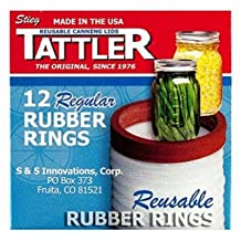 Tattler Home Products 1011 Jar Rubber Rings, Regular, 12-Pc. - Quantity 24