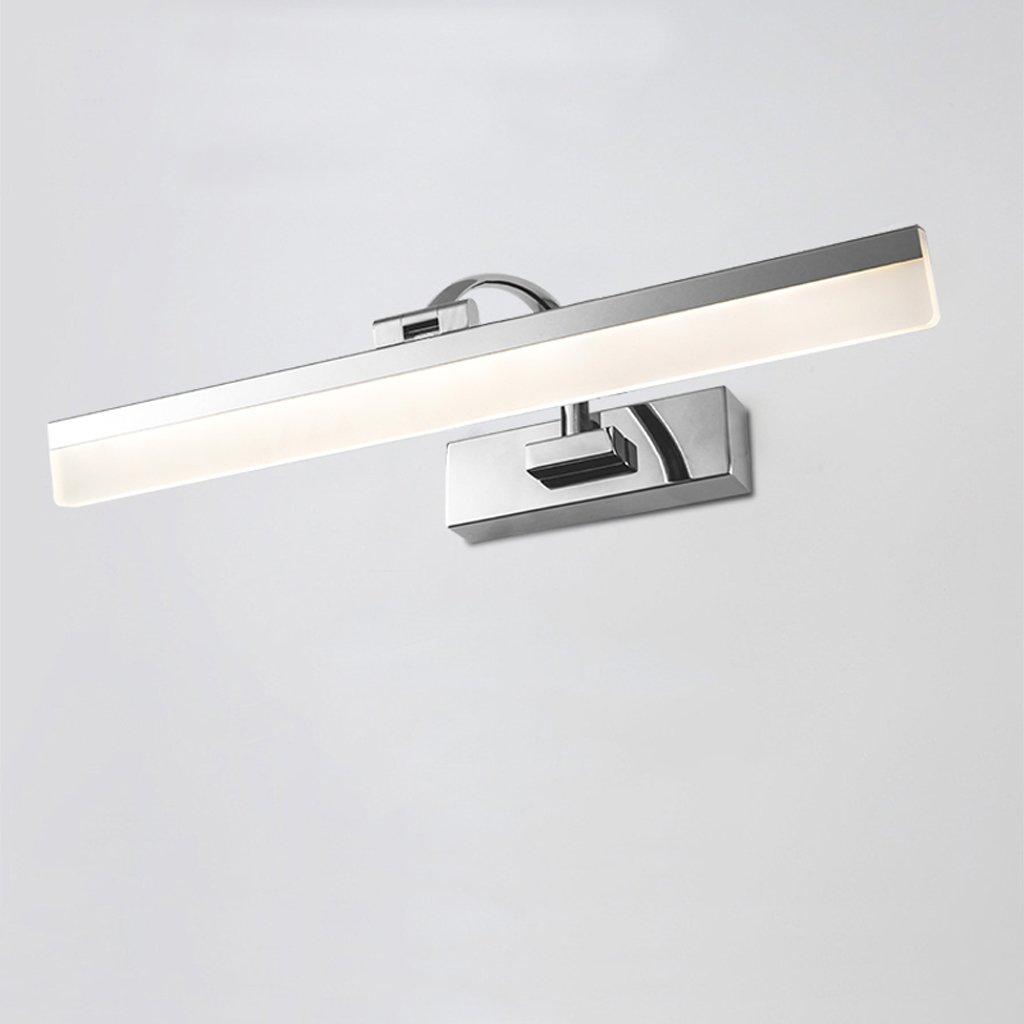 JXXDQ -Badezimmerbe leuchtung LED-Badezimmer-Schminkspiegel-Schlafzimmer-Spiegel, der wasserdichtes Anti-Nebel Legierungs-Dreifarbenlicht beleuchtet -langlebig