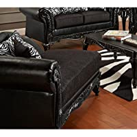 Chelsea Home Furniture Lolita Chaise, Bi-Cast Ebony/Jericho/Total Package