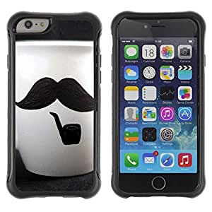 LASTONE PHONE CASE / Suave Silicona Caso Carcasa de Caucho Funda para Apple Iphone 6 / Cute Moustache Cup