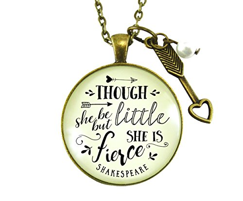 "24"" Though She Be But Little She Is Fierce Shakespeare Quote"