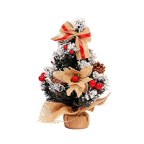 Iusun Mini Wooden Christmas Tree Table Decoration Bedroom Desk Ornament for Home Office Supplies Gift (F2,30cm)