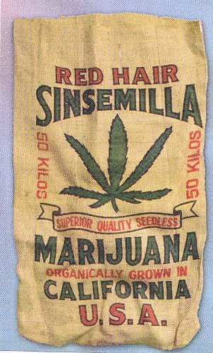 Amazoncom Red Hair Sinsemilla Marijuana Novelty Burlap Bag 22 X
