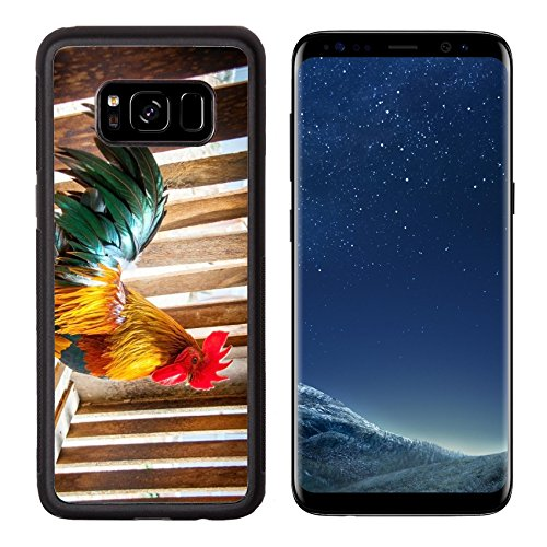 MSD Premium Samsung Galaxy S8 Aluminum Backplate Bumper Snap Case IMAGE ID: 35044686 figther chicken Thai race in wood cage