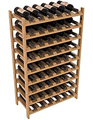 Wine Racks America Ponderosa Pine 54 Bottle Stackable 13 Stains To Choose From