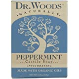Dr. Woods Castile Bar Soap Peppermint, 5.25 Ounce