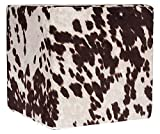 Grouchy Goose Brown Faux Cow Print Pouf