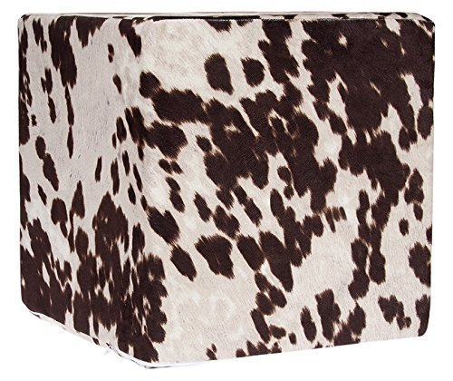 Grouchy Goose Brown Faux Cow Print Pouf by Grouchy Goose