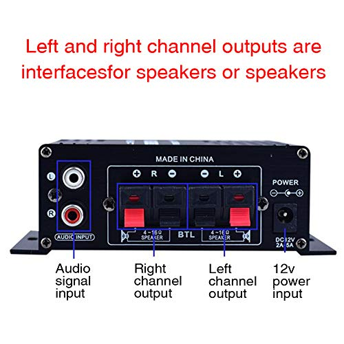 BEYST Power Amplifier,HiFi Music Receiver,Portable Dual Channel DC12V Stereo Sound Mini Receiver,for Home