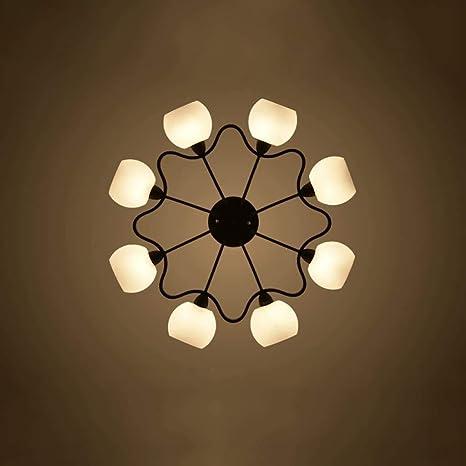 Couleur: Rouge XIANGAI Beau Durable Lampes de Plafond Lustre en Fer forg/é Triangle Lampe d/écorative Lumi/ère Plafond Couloir Balcon Plafond Lampe Spotlight E27 Lumi/ères de Plafond Couleur: Blanc