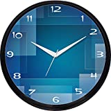 Cartoonpur Round Large Designer Decorative Blue Maze Wall Clock - Non Ticking & Silent 11-Inch Wall Clock for Home / Bedroom / Living Room / Kitchen