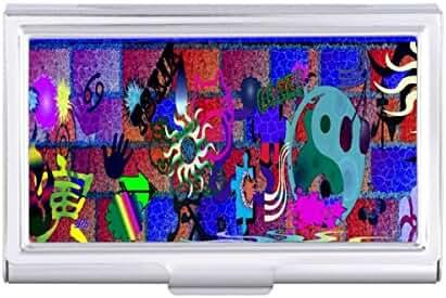 U-pick Color/ Graffiti Art on Brick Wall Card Holder Case