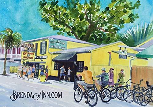 Captain Tony's Saloon Key West - Fine Art Wall Art Artwork Watercolor Art Print by Brenda Ann