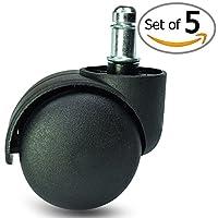 "Premium Office Chair Caster Wheel Universal Standard Size 11mm Stem Diameter X 22mm Stem Length (7/16"" X 7/8"")"