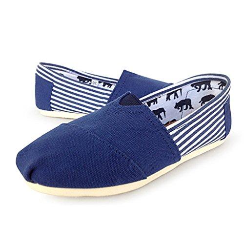 Flats on blu Loafers Donna Dooxii Scarpe Basse Espadrillas Casuale Unisex Uomo Scarpe Slip Durevole Moda 7pwgAR4