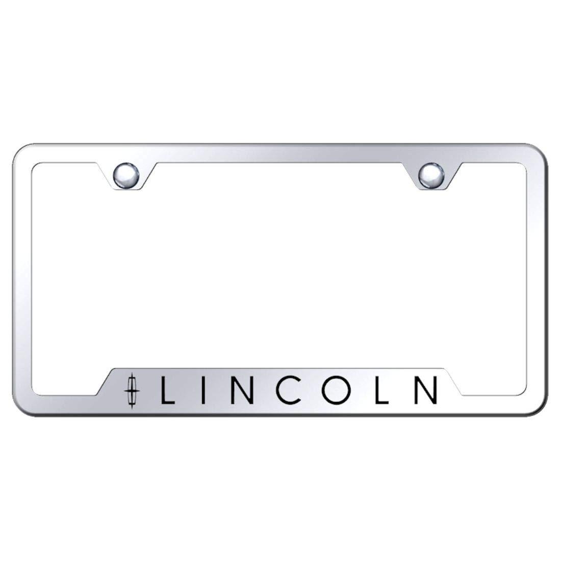 Lincoln Stainless Steel License Plate Frame MKX MKZ MKS MKT Engraved Chrome Made in USA Frame Mirror Bright Chrome