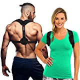 2018 Original Back Posture Corrector for Women and Men – Adjustable, Effective, Comfortable Clavicle Correct Brace - Improving Posture Support by Fitness.C | Free eBook, Bag and Underarm Pads