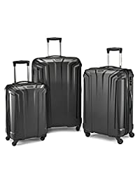 Samsonite Opto PC 3 Piece Luggage Set, Black, Checked – Large (Model: 106581-1041)